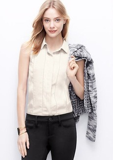 Perforated Sleeveless Blouse