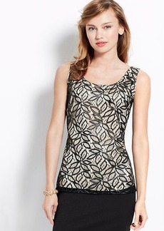 Petite Abstract Lace Shell