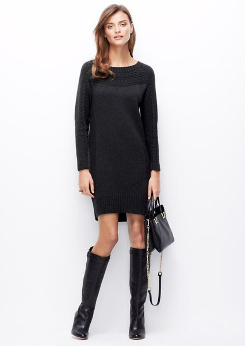 Ann Taylor Petite Boatneck Cable Sweater Dress | Dresses ... - photo #43