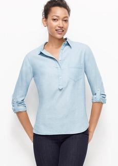 Petite Chambray Popover Shirt