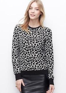 Petite Cheetah Jacquard Sweater