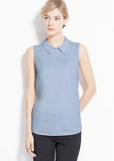 Petite Collared Sleeveless Shirt