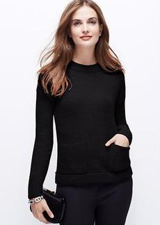 Petite Cozy Pocket Sweater