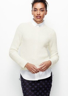 Petite Cropped Stitchy Pullover