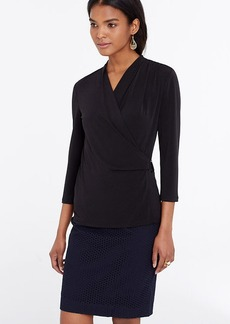 Petite D-Ring Wrap Top