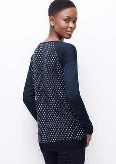 Petite Dot Woven Back Top