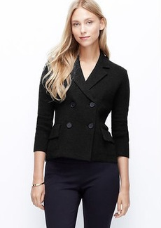 Petite Double Breasted Sweater Jacket
