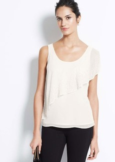 Petite Embellished Cascade Top