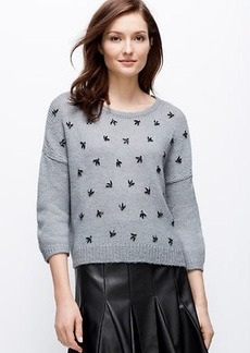 Petite Embellished Cropped Sweater