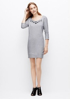 Petite Embellished Sweatshirt Dress