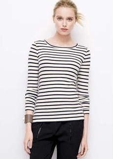 Petite Faux Leather Elbow Patch Tee