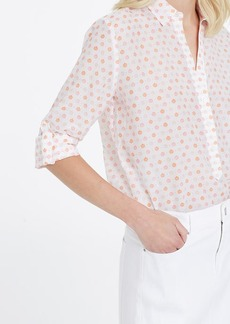 Petite Floral Stamp Silky Shirt