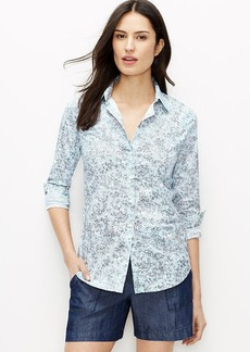 Petite Garden Floral Perfect Shirt