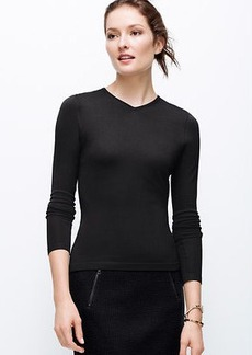 Petite High V-Neck Sweater