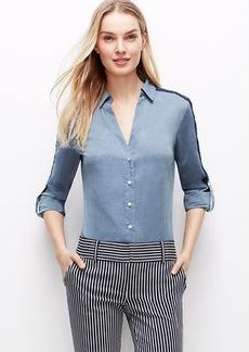 Petite Lacy Chambray Shirt