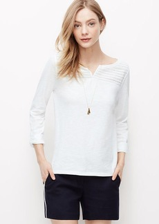 Petite Lacy Henley Shirt