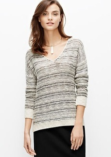 Petite Marled V-Neck Sweater