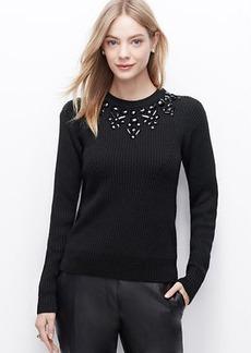 Petite Midnight Flake Sweater
