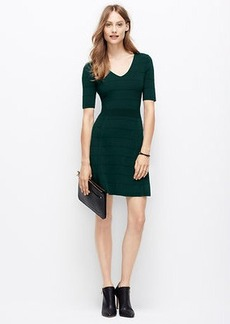 Petite Ottoman V-Neck Sweater Dress