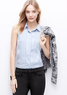 Petite Perforated Sleeveless Blouse