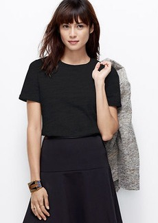Petite Quilted Shoulder Tee
