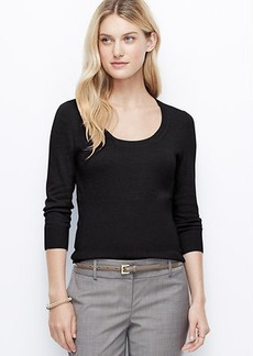 Petite Ribbed Waist Sweater