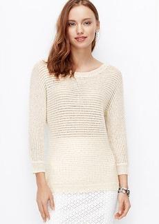 Petite Sequin Boatneck Sweater