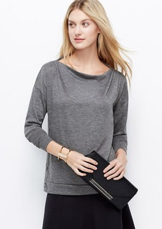 Petite Side Button Sweater Jersey Top