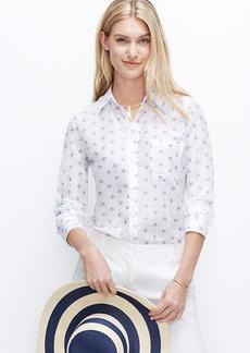 Petite Starfish Print Button Down Shirt