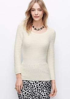 Petite Stripe Stitched Sweater