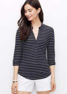 Petite Striped Camp Shirt