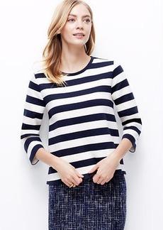 Petite Striped Knit Top