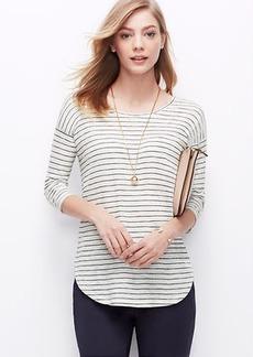 Petite Striped Shirttail Tee