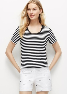 Petite Striped Shirttail Tee