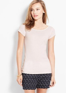 Petite Striped Side-Button Tee