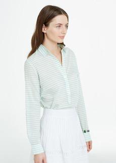 Petite Striped Silky Shirt