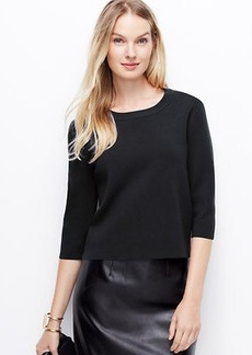 Petite Structured Zip-Back Sweater