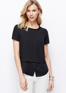 Petite Two-In-One Crepe Top