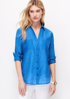 Petite Two Pocket Button Down Shirt