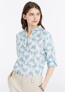 Petite Vine Floral Silky Shirt