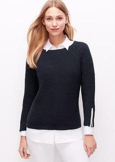 Petite Zip Cuff Sweater