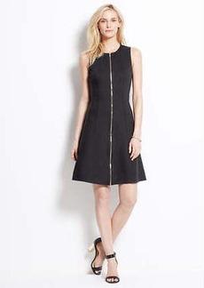 Petite Zip Front Ponte Dress