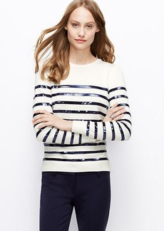 Sequin Striped Sweater