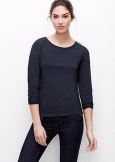 Shoulder Zip Cotton Top