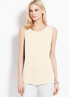 Shoulder Zip Crepe Shell