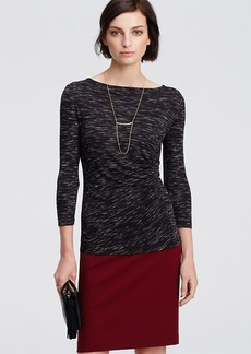 Spacedye Side Ruched Top