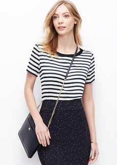 Striped Crepe Tee