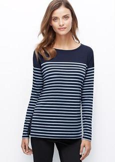 Striped Side Zip Sweater