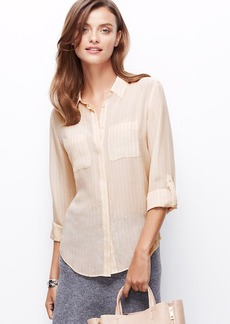 Striped Silk Camp Shirt