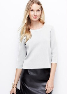 Structured Zip-Back Sweater